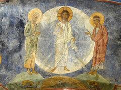 Фрески Преображенского собора Мирожского монастыря