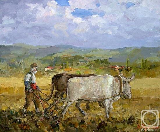 """Plowman of old times"" by Radov Lachezar."
