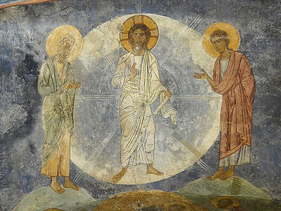 Frescoes of the Transfiguration Cathedral at Mirozhsky Monastery