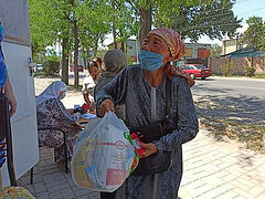 Russian Church sends $5,000+ to feed 500 needy families in Kyrgyzstan