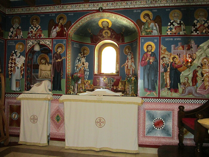 The altar in the church at the Monastery of the Holy Archangels