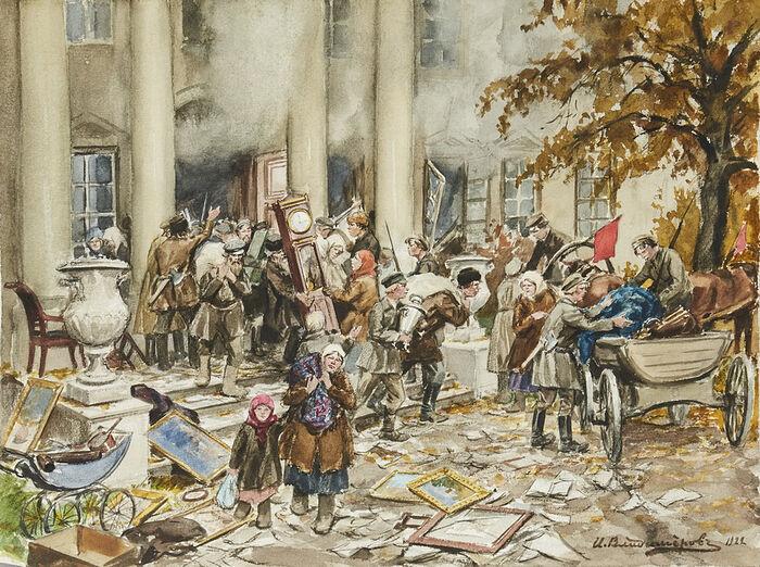 """To πογκρόμ τής έπαυλης τού τσιφλικά"" Καλλιτέχνης: Ivan Vladimirov, 1926"