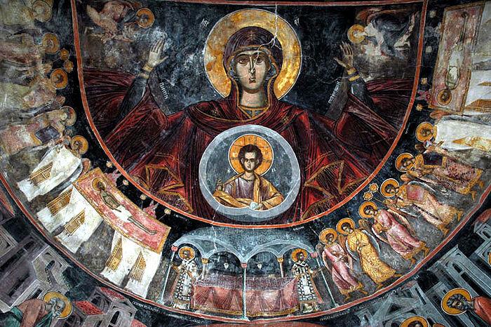 Fresco from Piva Monastery in Montenegro