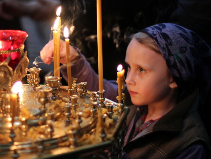 A child's prayer. Photo: www.orthphoto.net