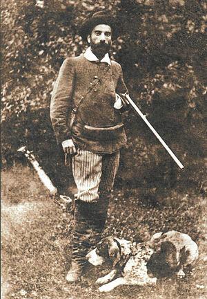 И. Левитан с собакой Вестой