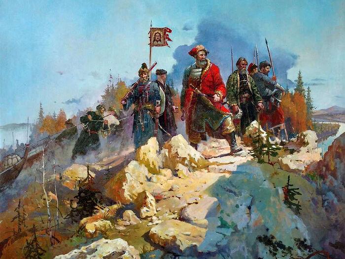 Ермак с войском в Сибири