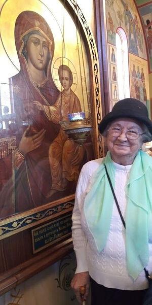 Tamara Polzik at Holy Theophany Church in Boston, MA.