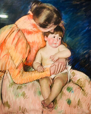 Мэри Кэссет. Мать и дитя. 1890-е гг.