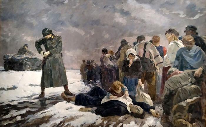 Рабовладельцы, 1942 г. Работа Тараса Гапоненко (1906-1993)
