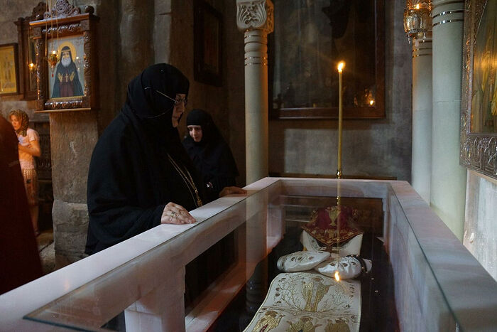 At the relics of St. Gabriel