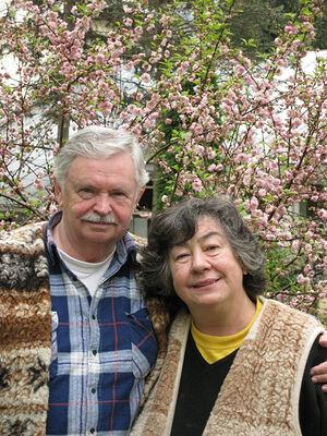 Альберт Лиханов с женой Лилией