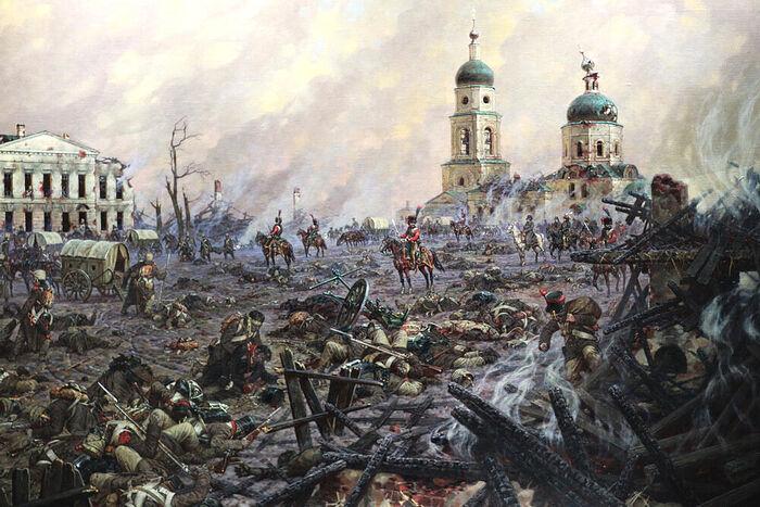 Соборная площадь в Малоярославце 1812 год. Александр Аверьянов