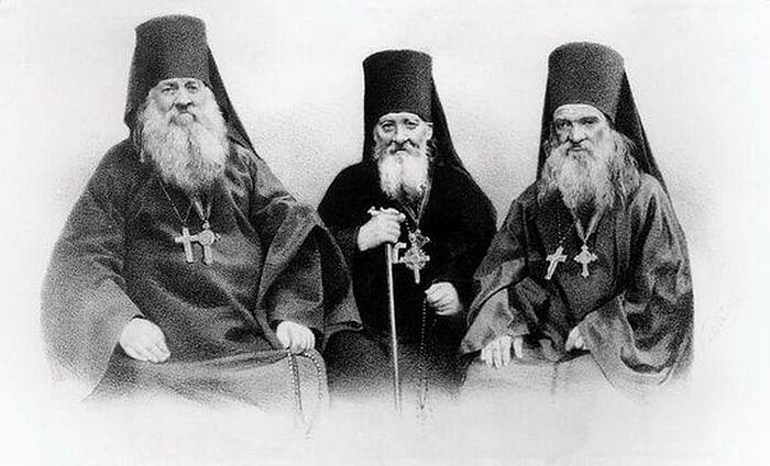 Старцы Оптинские Антоний, Моисей, Макарий