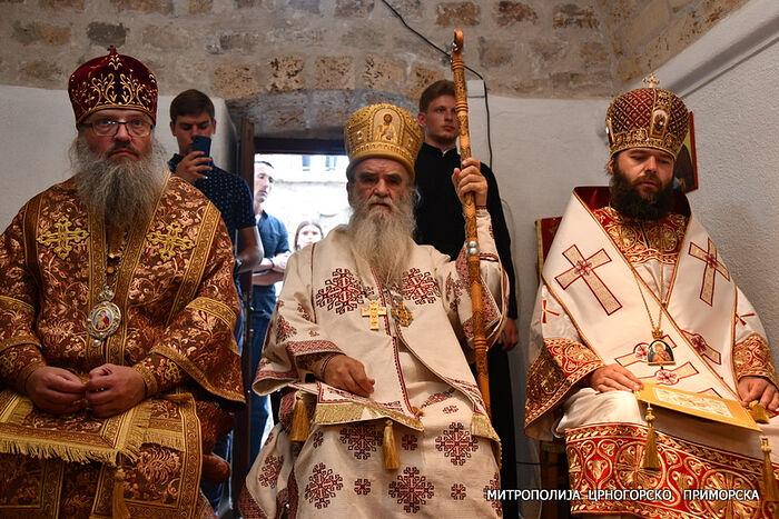 Met. Luke, Met. Amfilohije, Met. Diodore. Photo: mitropolija.com