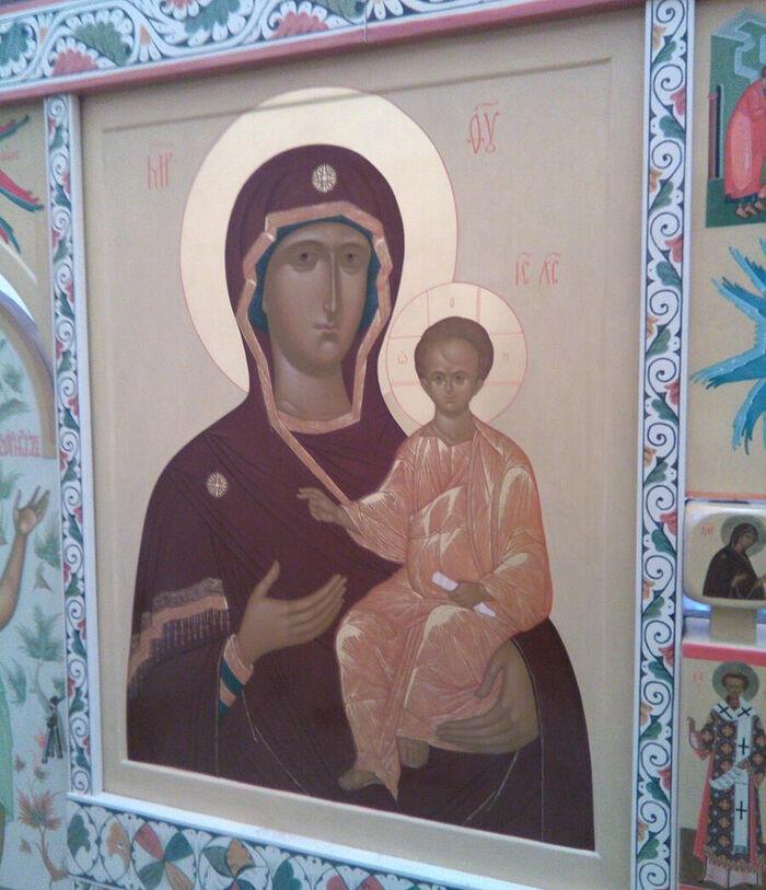 Икона Божьей Матери Одигитрия церковь в честь св. Игоря Черниговского, Московская обл. автор - Лариса Узлова