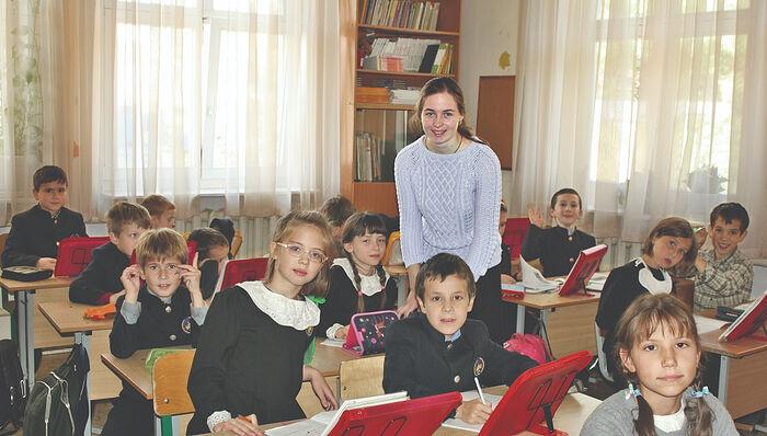 В классах Свято-Петровской школы