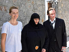 Man of God film on St. Nektarios shoots scenes in Aegina Monastery he founded