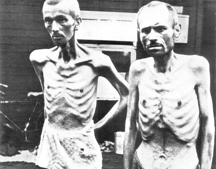 Prisoners released from the Ravensbrück concentration camp