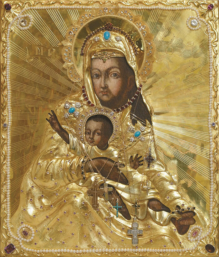 Икона Божией Матери «Милостивая» в окладе