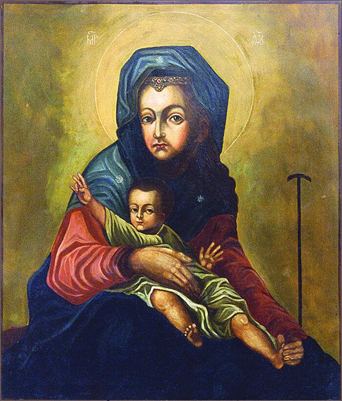 Икона Божией Матери «Милостивая». Образ без оклада