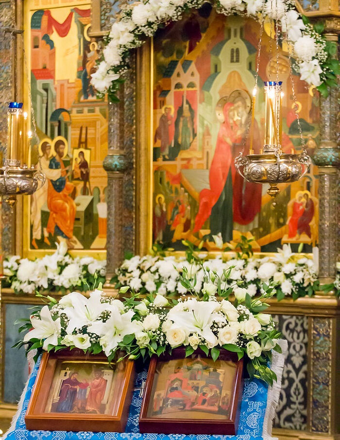 The feast of Sts. Joachim and Anna at the monastery