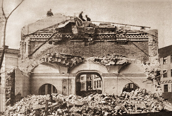 The destruction of Conception Monastery under the soviet authorities