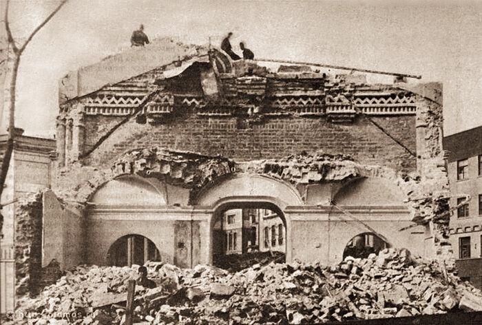 Разрушение Зачатьевской обители при советской власти