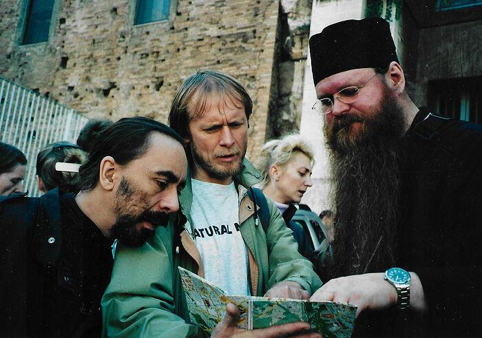 Паломничество в Рим, поиск дороги, – владыка Агапит, Дмитрий Пеннер и отец Илья Лимбергер