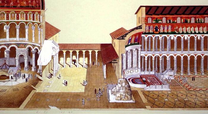 «Церковный комплекс на Святых местах Иерусалима в IV веке (реконструкция)»