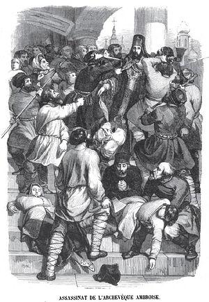 Гравюра Шарля Жеффруа из книги Les mystères de la Russie: Tableau politique et morale de l'empire Russe. 1845