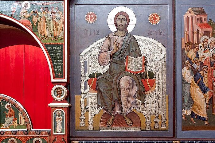 Τοιχογραφίες του ιερού ναού Αγίου Νικόλαου (χωριό Οζερέτσκοε, περιοχή της Μόσχας)