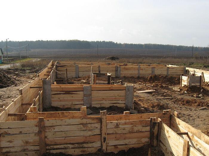 Опалубка под фундамент храма