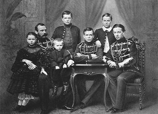 Государь император Александр II с детьми