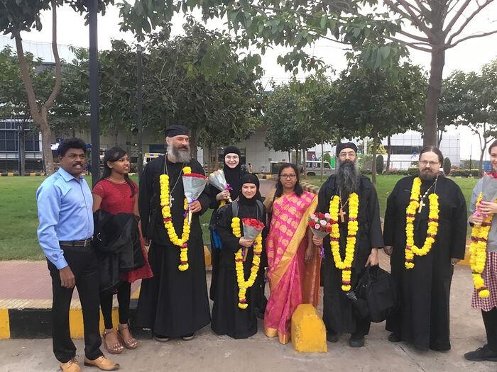 The original mission team to India. Photo: orthodoxriverorg