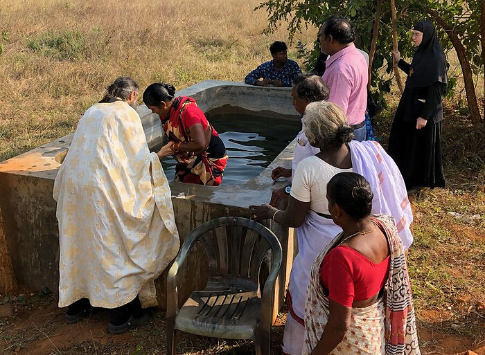 Newly-lllumined Indian faithful. Photo: orthodoxriver.org