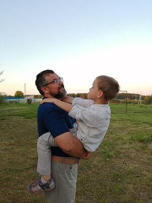 Алексей с крестником