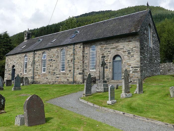 Древняя церковь в д. Далл, Перт-энд-Кинросс (любезно предоставил - Gordon Stark of Tay and Lyon Churches)
