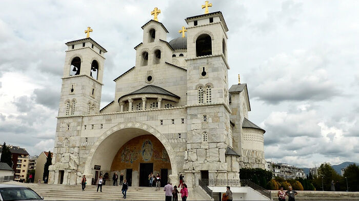 Cathedral of the Resurrection of Christ in Podgorica, Montenegro. Photo: YouTube