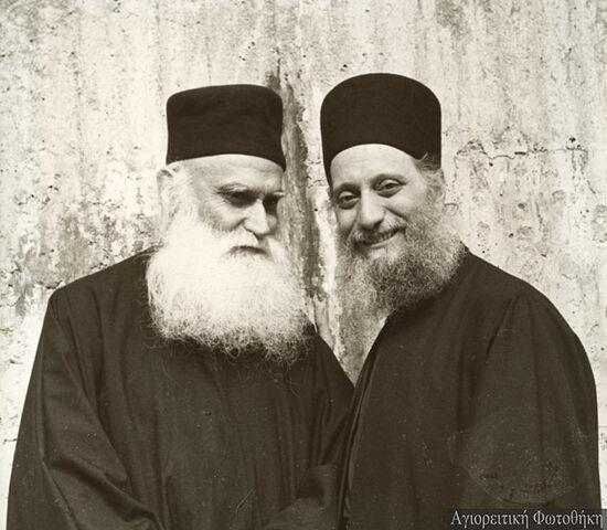 Со старцем Ефремом