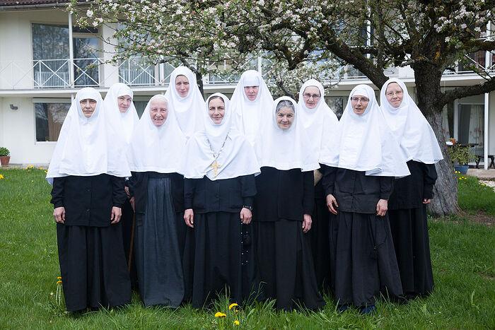 Матушка Мария и сестры обители преподобномученицы Елисаветы в Бухендорфе