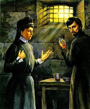 1905. Елизавета Федоровна посещает Каляева в Таганской тюрьме