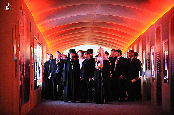 "The memorial corridor of the Orthodox Rus' 2011 exhibition that anticipated the development of the ""Russia—My History"" History Parks"