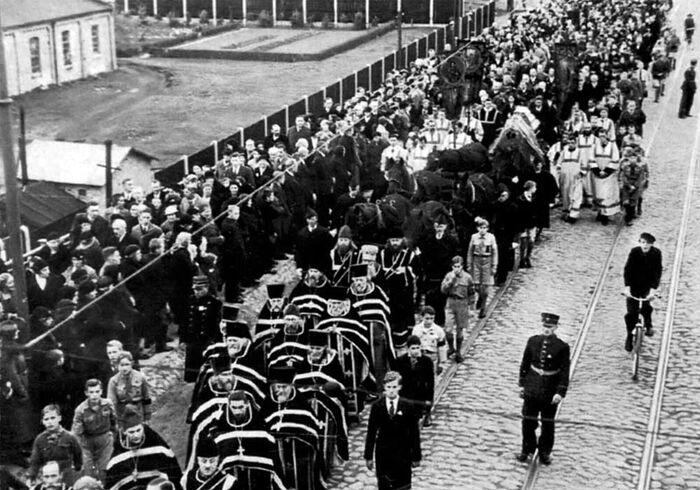 Похороны владыки Иоанна (Поммера). Рига. 21 октября 1934 года