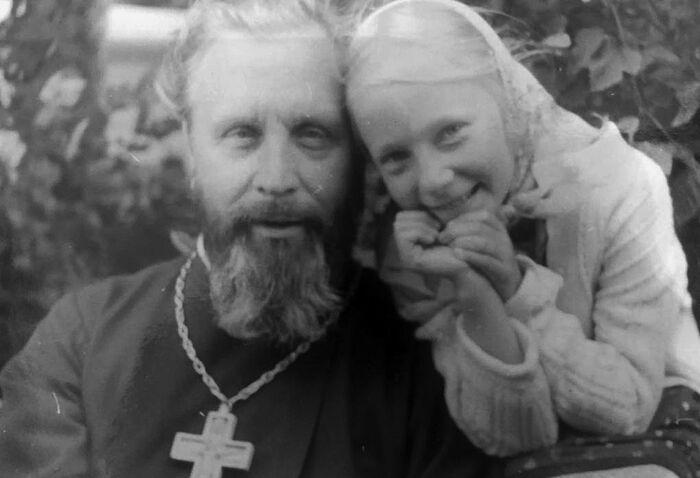 Протоиерей Георгий Бреев с дочерью Марией