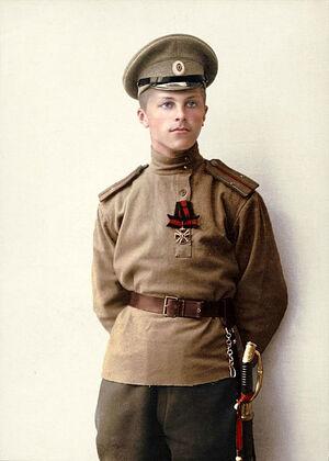Русский офицер с орденом святого Владимира, 1915 год