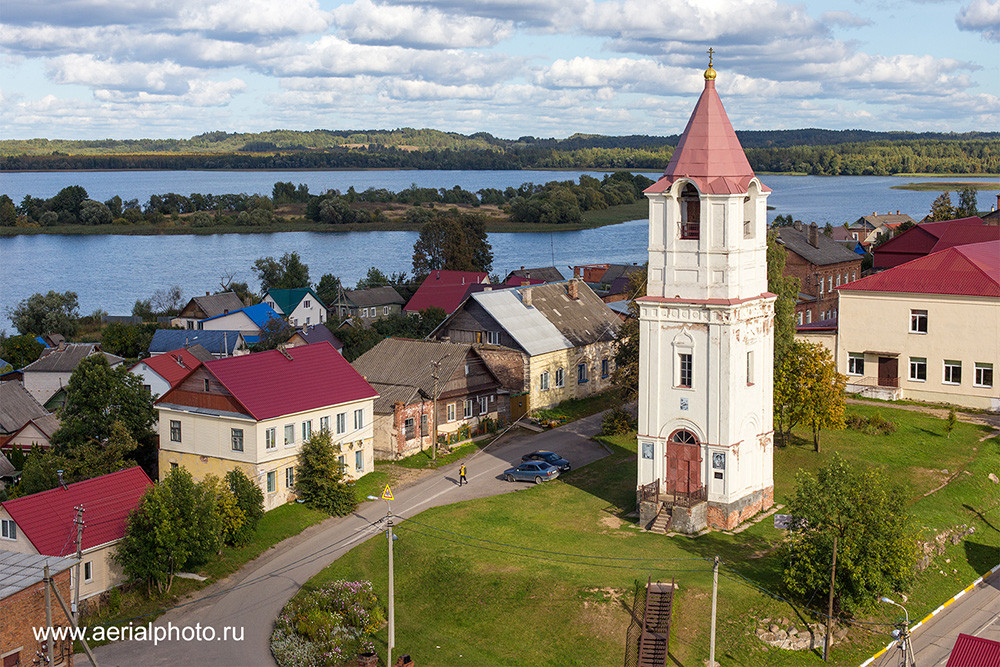 Bell tower of the Cathedral of the Nativity of Christ. Sebezh, Pskov Province