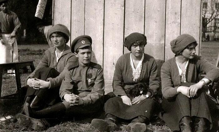 Старая Россия. Великие княжны и цесаревич Алексей