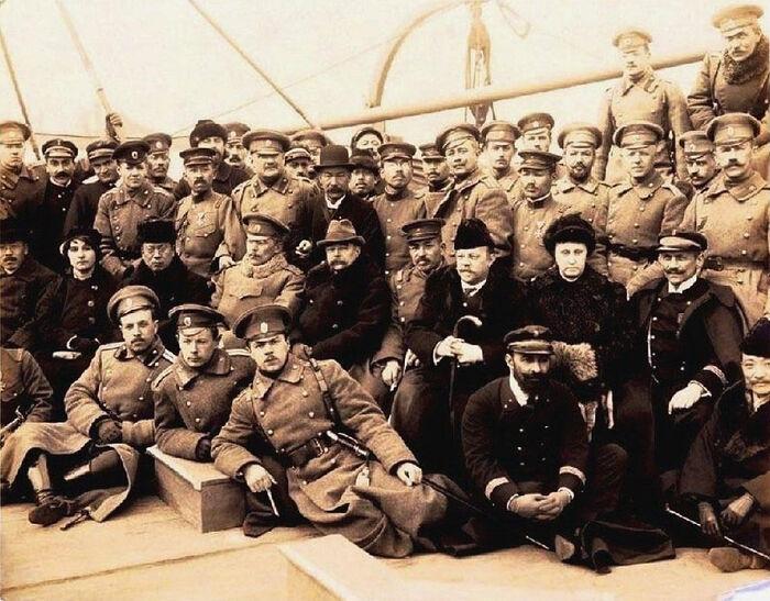 На борту одного из кораблей эскадры контр-адмирала Старка