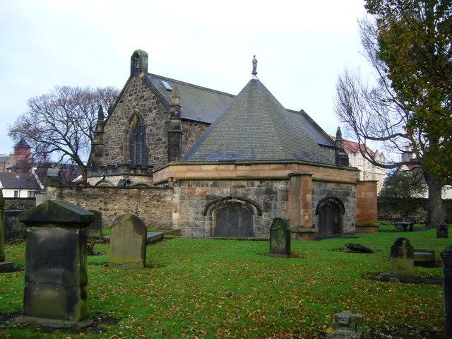 Церковь св. Маргариты с часовней св. Тридуаны в Рестальриге, Эдинбург