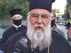 Metropolitan of Corfu found innocent of inciting quarantine violations, trial continues for serving Liturgy on Palm Sunday